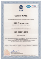 Environment management system certification - ISO 14001:2015