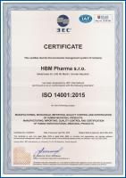 Environmental management system certification - ISO 14001:2015